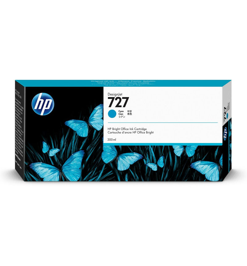 HP 727 300-ml Cyan DesignJet Ink Cartridge | F9J76A