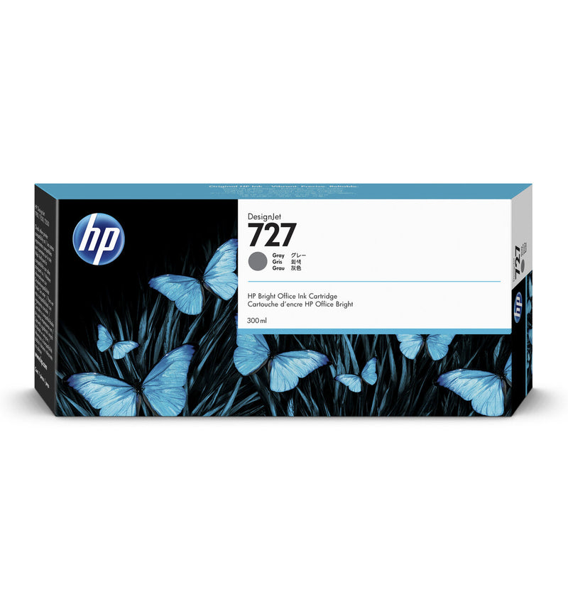 HP 727 300-ml Gray DesignJet Ink Cartridge | F9J80A