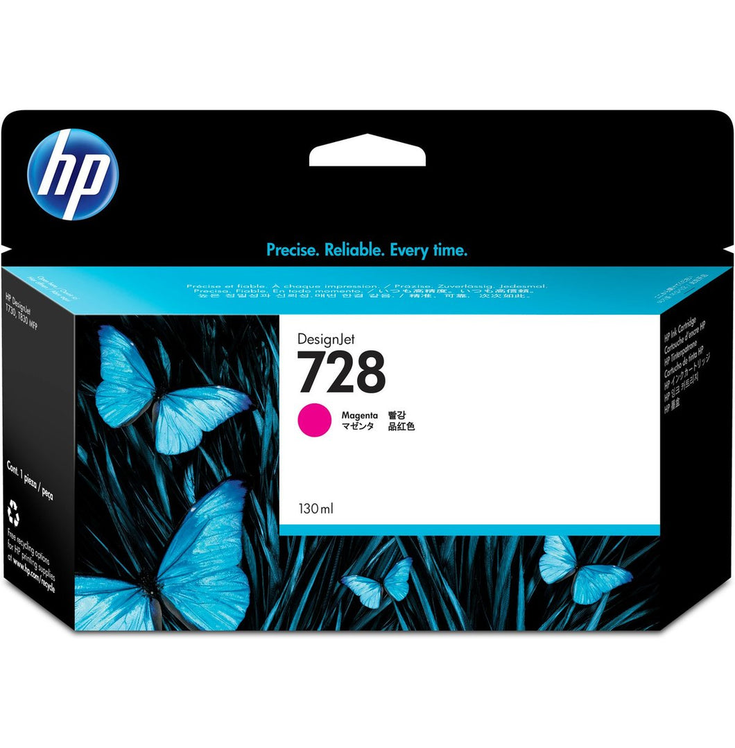 HP 728 130-ml Magenta DesignJet Ink Cartridge | F9J66A