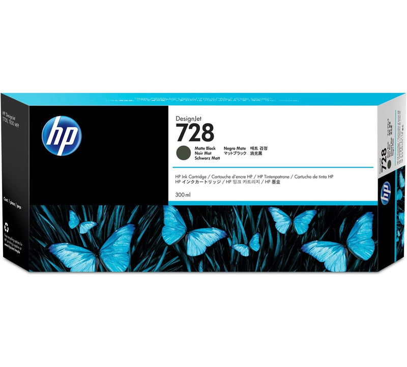 HP 728 300-ml Matte Black DesignJet Ink Cartridge | F9J68A
