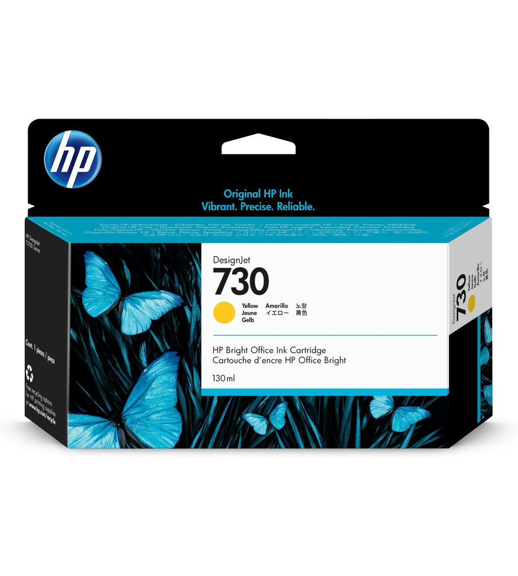 HP 730 130-ml Yellow DesignJet Ink Cartridge | P2V64A