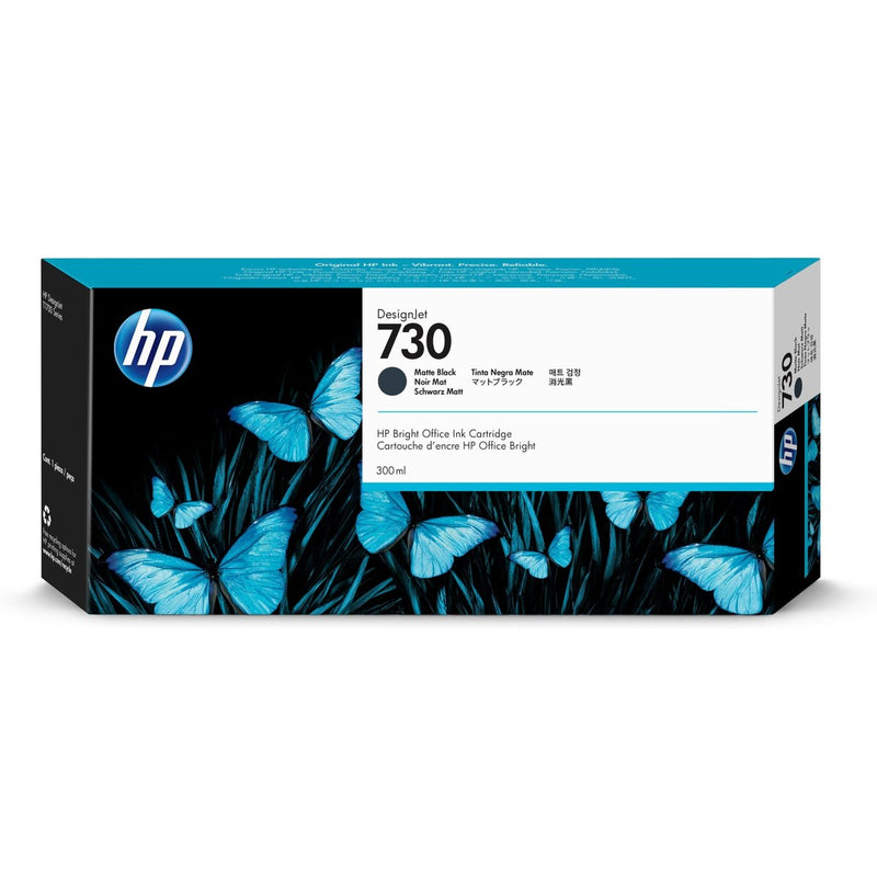 HP 730 300-ml Matte Black DesignJet Ink Cartridge | P2V71A