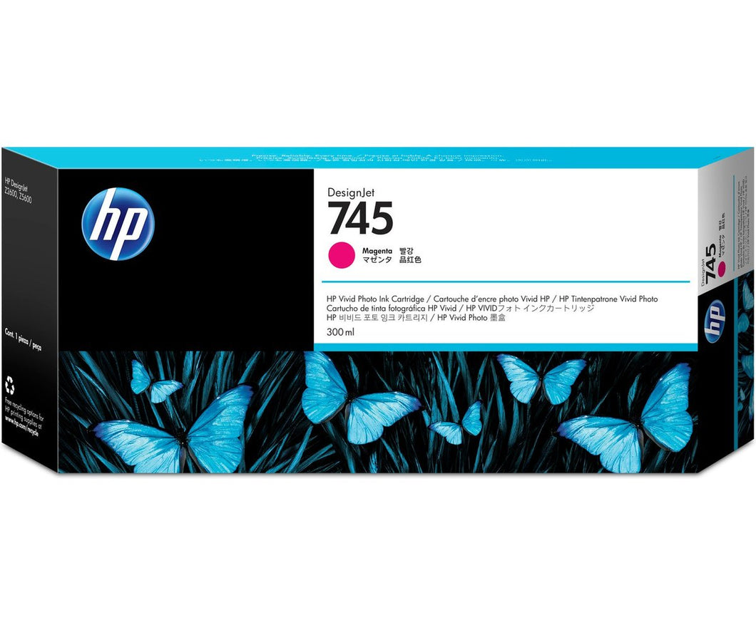 HP 745 300-ml Magenta DesignJet Ink Cartridge | F9K01A
