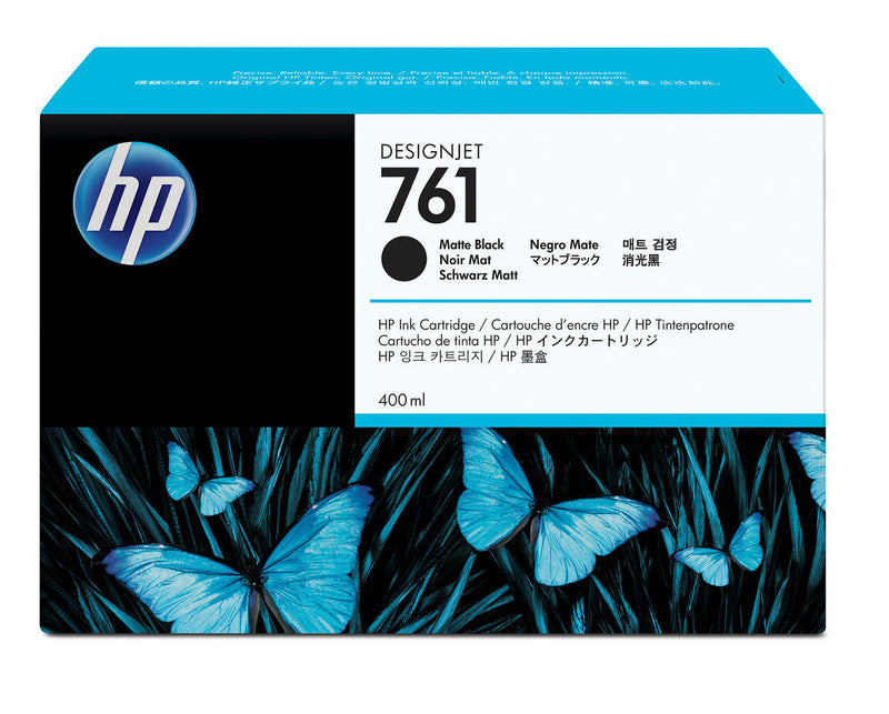 HP 761 400-ml Matte Black DesignJet Ink Cartridge | CM991A