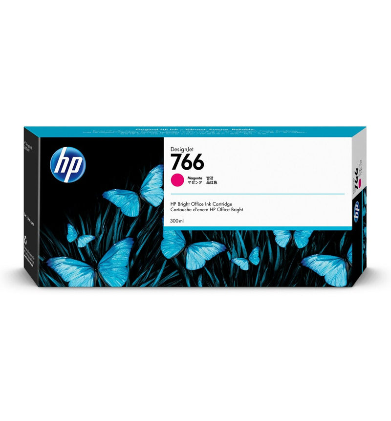 HP 766 300-ml Magenta DesignJet Ink Cartridge | P2V90A