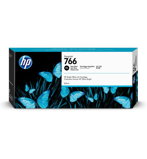 HP 766 300-ml Photo Black DesignJet Ink Cartridge | P2V94A
