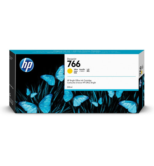 HP 766 300-ml Yellow DesignJet Ink Cartridge | P2V91A