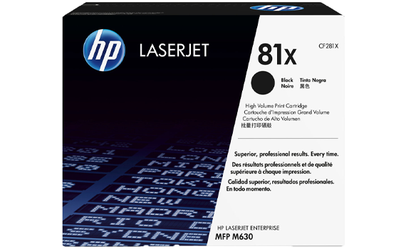 HP 81X High Yield Black Original Toner Cartridge | CF281X