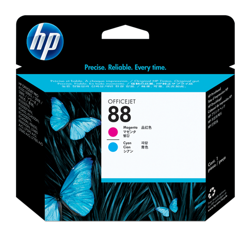 HP 88 Magenta and Cyan Original Printhead | C9382A
