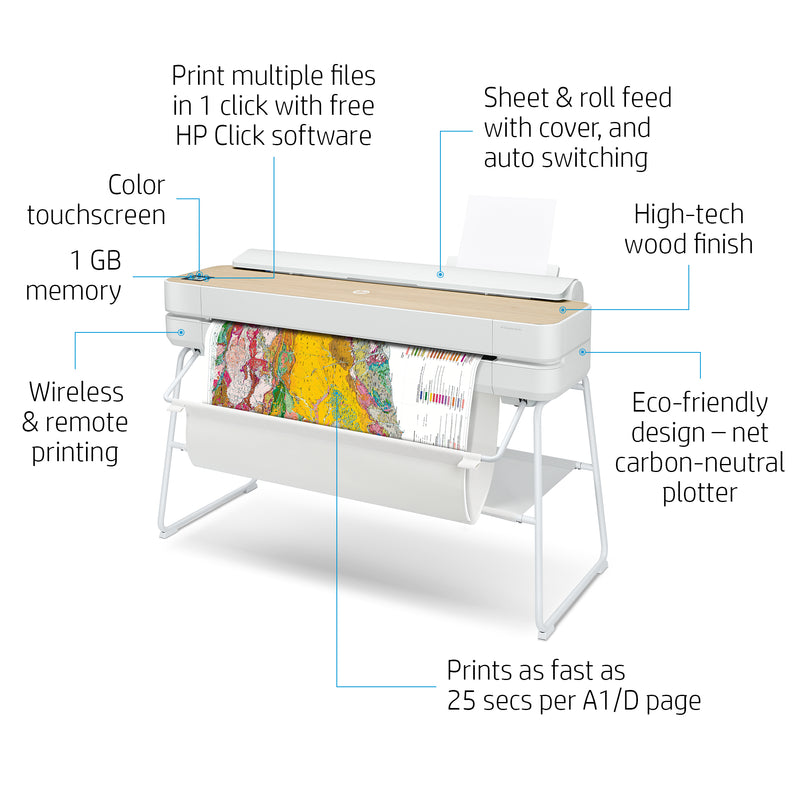 HP DesignJet Studio Wood 36 Inch Printer | 5HB14A