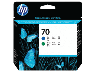HP 70 Blue and Green DesignJet Printhead | C9408A