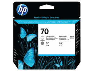 HP 70 Gloss Enhancer and Gray DesignJet Printhead | C9410A