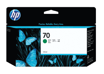HP 70 130-ml Green DesignJet Ink Cartridge | C9457A