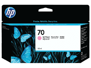 HP 70 130-ml Light Magenta DesignJet Ink Cartridge | C9455A