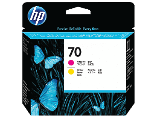 HP 70 Magenta and Yellow DesignJet Printhead | C9406A