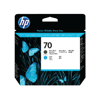 HP 70 Matte Black and Cyan DesignJet Printhead | C9404A