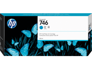 HP 746 300-ml Cyan DesignJet Ink Cartridge | P2V80A
