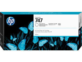 HP 747 300-ml Gloss Enhancer DesignJet Ink Cartridge | P2V87A