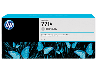 HP 771A 775ml Light Gray Designjet Ink Cartridge | B6Y22A