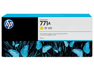 HP 771A 775ml Yellow Designjet Ink Cartridge | B6Y18A