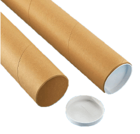 4 x 36 Mailing Tubes with End Caps | S-3573