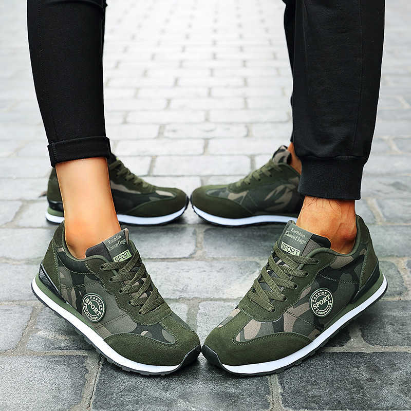 Women Casual Camouflage Lace Up Non Slip Sneakers