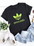 Funny Avocado Printed Short-Sleeved Casual T-shirts
