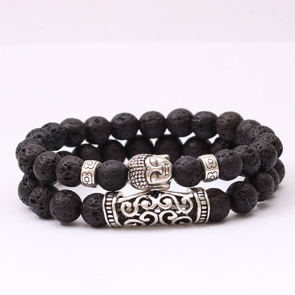 Alloy Buddha Double Layer Bracelet