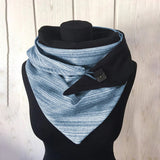 Stripes Winter Scarf Cotton Fashion Triangle Scarf Warm Snood Scarfs