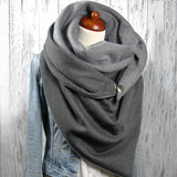 Solid Triangle Scarf Fashion Winter Scarf Cotton Scarves For Women