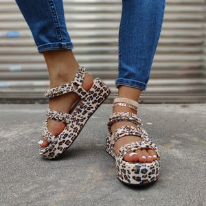 Level Up Multicolor Snakeskin Platform Sandal