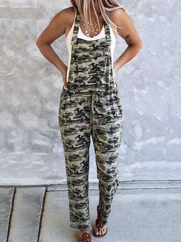 Camouflage Women's Polyester Jumpsuits