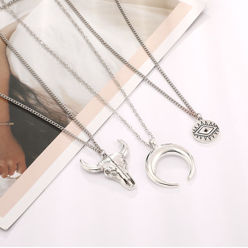 Women Fashionable Simple Alloy Multi-layer Necklace