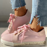 Women Fashion Rhinestone Breathable Mesh Sneakers