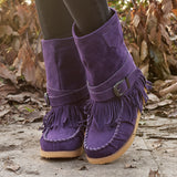 Women Daily Casual Slip-on Round Toe Boots