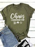 Chaos Coordinator Letters Print Casual Short-Sleeved T-Shirts
