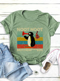 Noot Noot Motherf...Ers Letter Printed Women'S Short Sleeve Round Neck T-Shirts