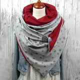 Floral Print Triangle Scarf Cotton Shawls Winter Scarves For Women