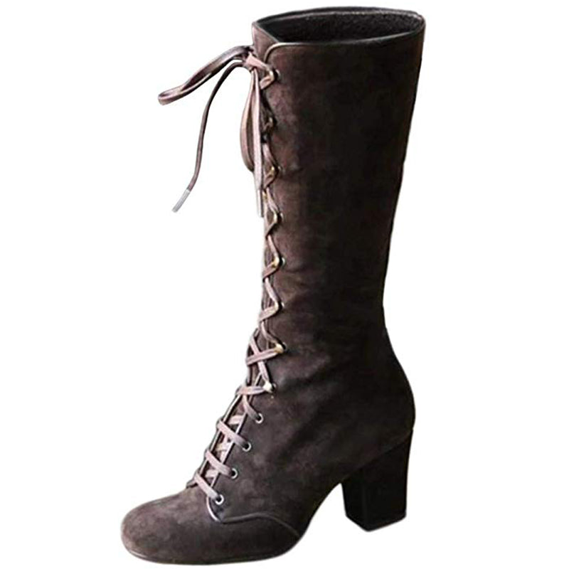 Women Autumn/Winter Elegant Retro Chunky Heel Boots