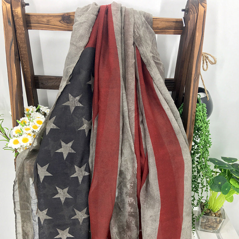 Women Flag Pattern Scarf