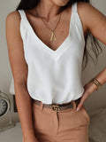 Women Spaghetti V Neck Sexy Vests