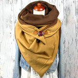 Cotton Fashion Scarves Winter Scarves For Women Floral Triangle Scarf