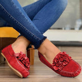 Women Three-dimensional Flowers Casual Daily  Slide-in Loafers