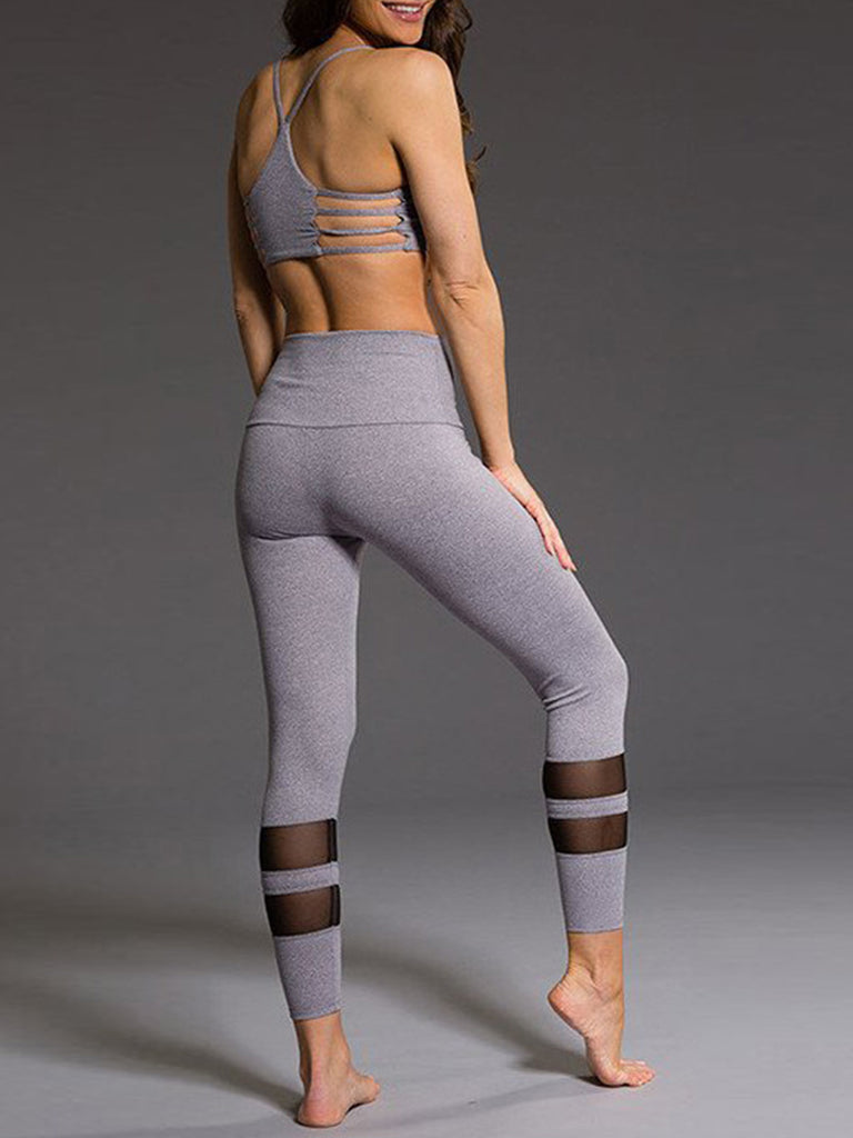 Mesh Yoga Running Pants High Waist Leggings for Women