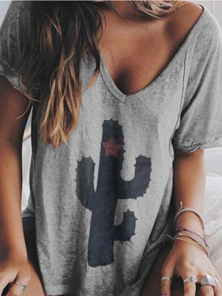 Women Printed Short sleeve Tops