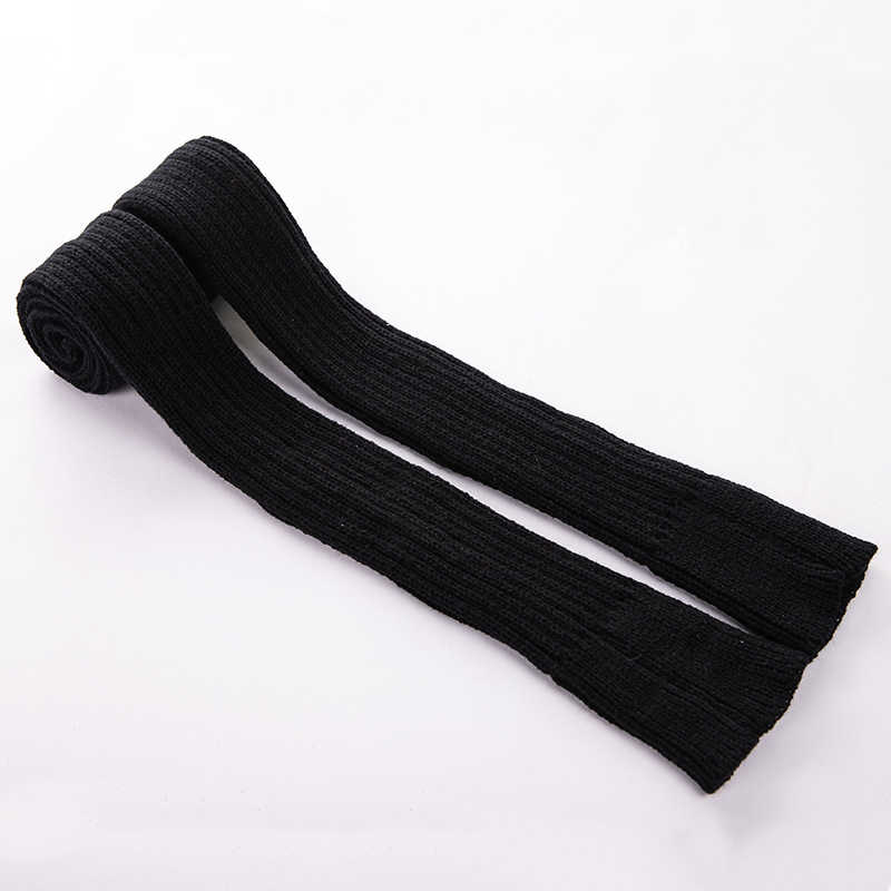 Women Acrylic Solid Color Open Toe Knee High Socks