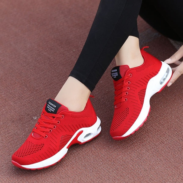 Air Cushion Sports Shoes Flying Woven Women's Shoes Summer