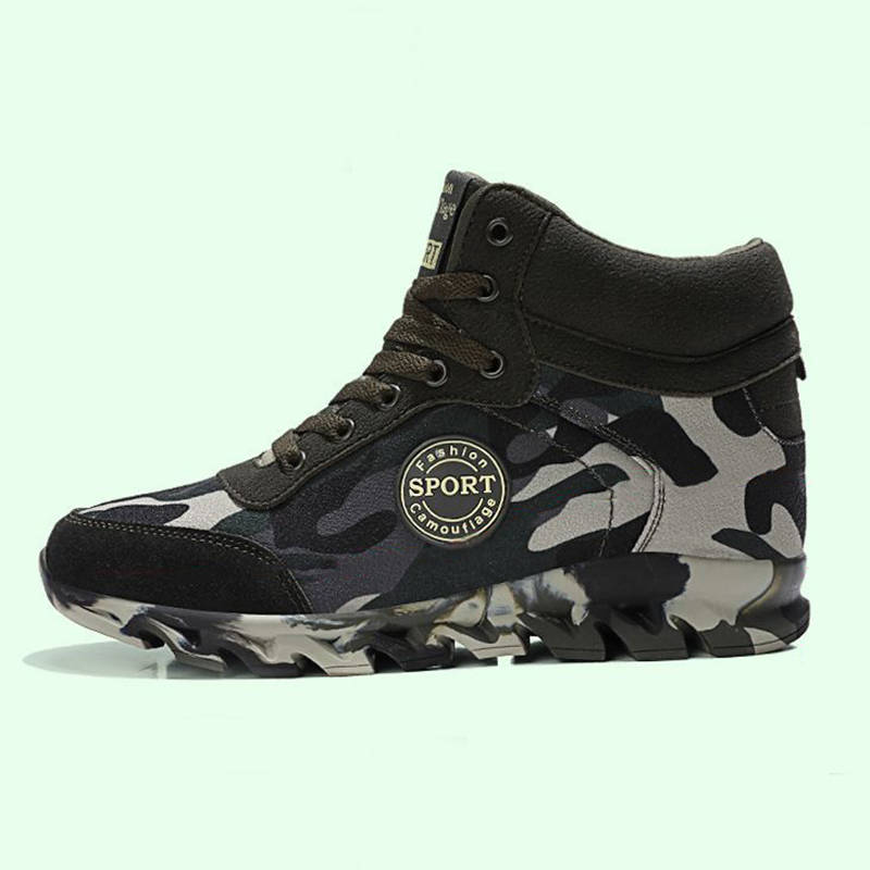 Women Casual Camouflage Mixed Colors High Top Lace Up Sneakers