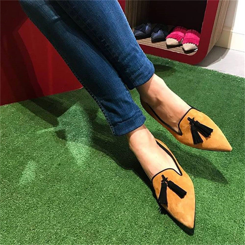 Women's Fashion Daily Tassel Pointed Toe Flats