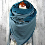 Plaid Scarf Warm Snood Triangle Scarf Cotton Scarfs